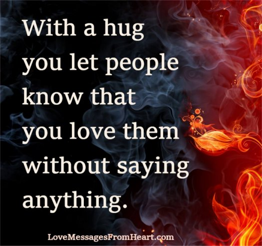 hug people