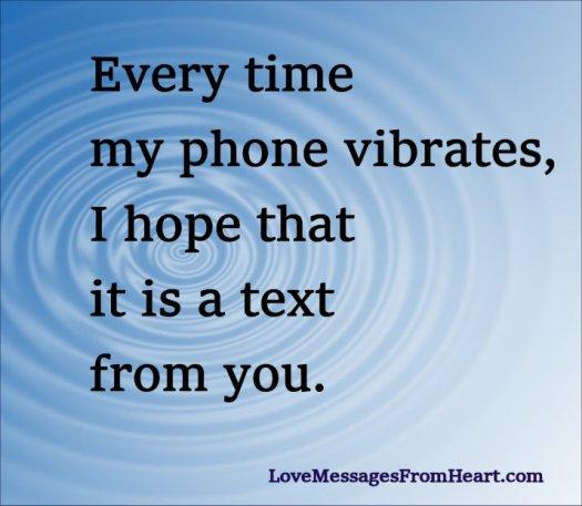 phone vibrates