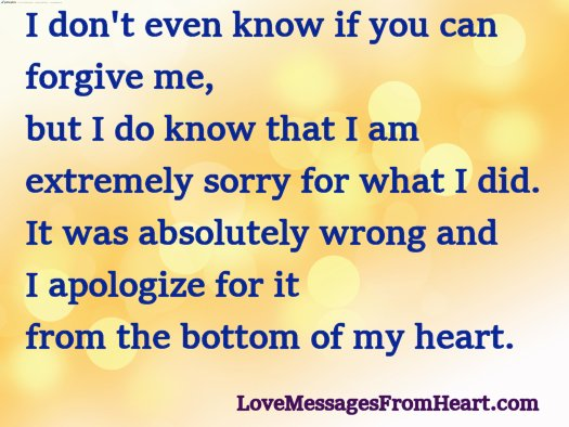 I Am Very Sorry Love Messages From The Heart
