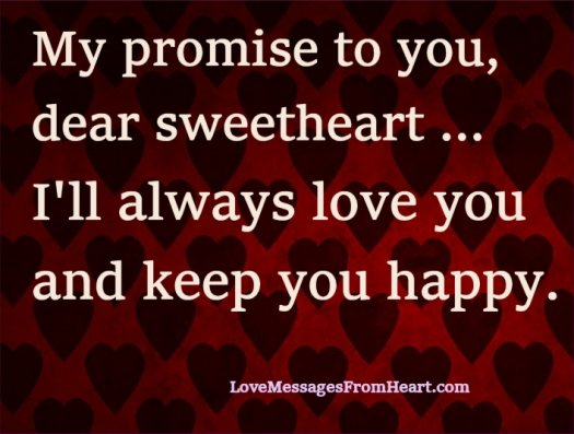 Promise to you, sweetheart