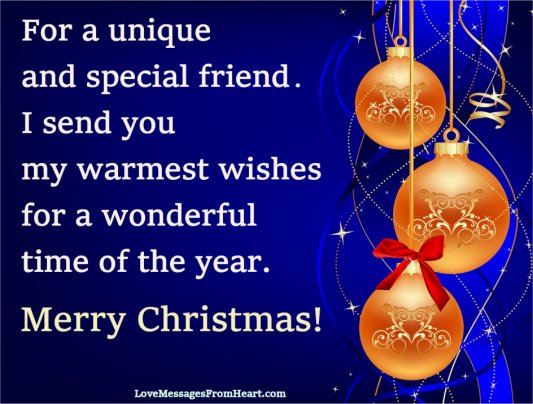 Christmas wishes for a friend