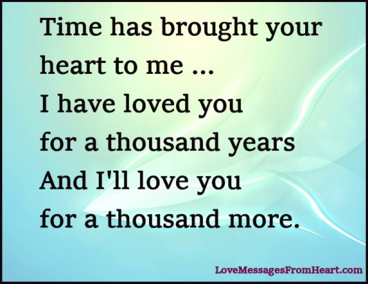 Love for thousand years