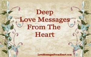 Deep love messages